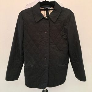 Burberry Black Nova Check Quilted Jacket Size S